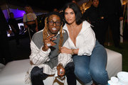 """Lil Wayne and La'Tecia Thomas attend Lil Wayne's """"Funeral"""" album release party on February 01, 2020 in Miami, Florida"""