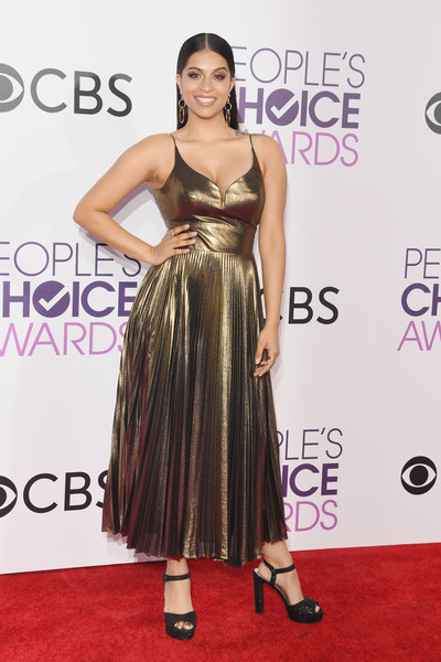 People's Choice Awards 2017 - Arrivals [flooring,fashion model,carpet,shoulder,cocktail dress,dress,fashion,gown,red carpet,long hair,peoples choice awards,internet personality,microsoft theater,los angeles,california,arrivals,lilly singh]