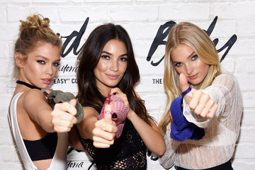 Lily Aldridge Elsa Hosk Victoria's Secret Angels Lily Aldridge, Elsa Hosk and Stella Maxwell Launch the All-New Easy Collection From Body by Victoria in NYC