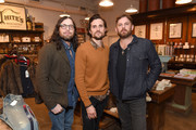 Nathan Followill, Jared Followill and Caleb Followill of the band Kings Of Leon attend the Lily Aldridge And Levi's Made And Crafted Celebrate Denim In Nashville on October 18, 2018 in Nashville, Tennessee.