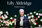 Maye Musk poses for a photo during the Lily Aldridge parfums launch event at The Bowery Terrace at the Bowery Hotel on September 08, 2019 in New York City.