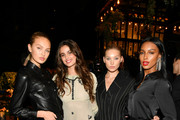 (L-R) Romee Strijd, Taylor Hill, Elsa Hosk and Jasmine Tookes pose for a photo during the Lily Aldridge parfums launch event at The Bowery Terrace at the Bowery Hotel on September 08, 2019 in New York City.