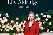 Larsen Thompson poses for a photo during the Lily Aldridge parfums launch event at The Bowery Terrace at the Bowery Hotel on September 08, 2019 in New York City.
