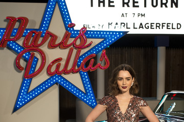 "Lily Collins Chanel ""Metiers d'Art"" Show"