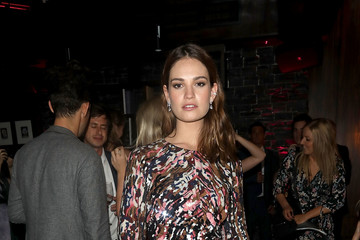 Lily James European Premiere of Sony Pictures 'Baby Driver' - After Party