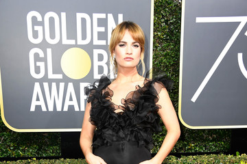 Lily James 75th Annual Golden Globe Awards - Arrivals