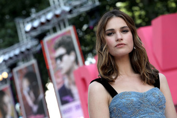Lily James European Premiere of Sony Pictures 'Baby Driver'