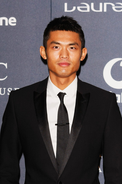 Lin Dan Chinese Badminton Player Lin Dan attends the 2012 Laureus World Sports Awards at Central Hall Westminster on February 6, 2012 in London, England.