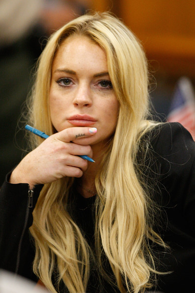 Lindsay Lohan Probation Hearing Actress Lindsay Lohan attends a probation