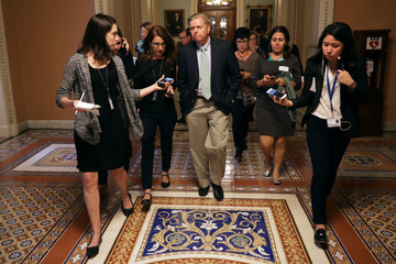 Lindsey Graham Members Of Congress Return To Capitol Hill Amidst New Kavanaugh Accusations