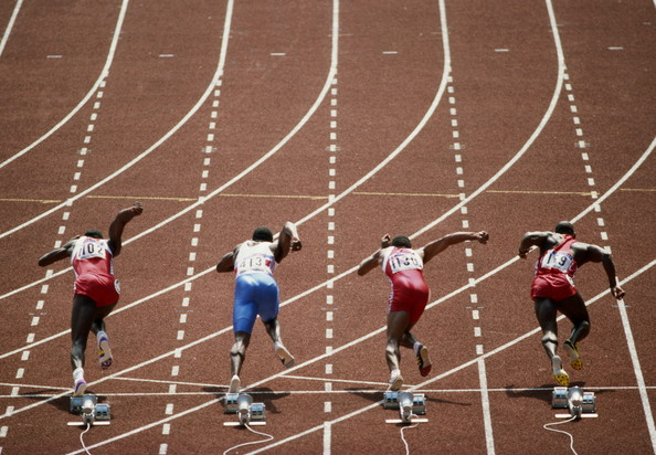 Image result for linford christie in blocks