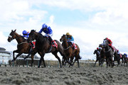 Paul Hanagan riding Ertijaal (2L) win The 32Red Spring Cup at Lingfield racecourse on March 22, 2014 in Lingfield, England.