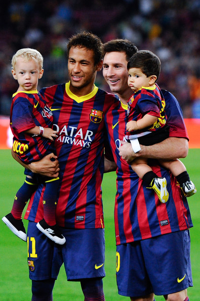 Neymar Son And Messi Son And Pique Son