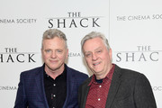 "Actor Aidan Quinn and cinematographer Declan Quinn attend Lionsgate Hosts the World Premiere of ""The Shack"" at the  Museum of Modern Art on February 28, 2017 in New York City."