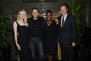 """(L-R) Dakota Fanning, Ewan McGregor, Uzo Aduba and Gary Lucchesi attend the after party for """"American Pastoral"""" hosted by Lionsgate, Lakeshore Entertainment and Bloomberg Pursuits at American Cut on October 19, 2016 in New York City."""
