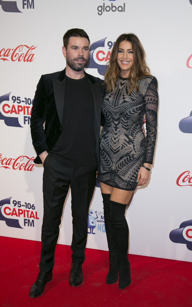 Jingle Bell Ball - Day 1 Arrivals [carpet,clothing,red carpet,event,flooring,footwear,coca-cola,dress,premiere,thigh,arrivals,dave berry,lisa snowdon,london,england,the o2 arena,jingle bell ball]