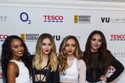 Leigh-Anne Pinnock, Perrie Edwards, Jade Thirlwall and Jesy Nelson of Little Mix attend the Nordoff Robbins Six Nations Championship Rugby Dinner at The Grosvenor House Hotel on January 14, 2015 in London, England.