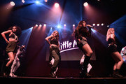 (EXCLUSIVE COVERAGE)  Leigh-Anne Pinnock, Jade Thirlwall,  Jesy Nelson and Perrie Edwards from Little Mix perform for KISS FM at The KISS Secret Sessions gig on July 10, 2015 in London, England.