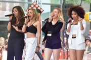 (L-R)  Jesy Nelson, Jade Thirlwall, Perrie Edwards and Leigh-Anne Pinnock of Little Mix perform on NBC's 'Today' show on June 17, 2014 in New York, New York.
