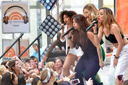 """(L-R) Leigh-Anne Pinnock, Jesy Nelson, Perrie Edwards and Jade Thirlwall of """"Little Mix"""" perform on NBC's """"Today"""" show on June 17, 2014 in New York, New York."""