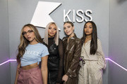 (EXCLUSIVE COVERAGE) Jade Thirlwall, Jesy Nelson, Perrie Edwards and Leigh-Anne Pinnock of Little Mix visit Kiss FM Studio's on October 11, 2018 in London, England.