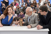 """Asaka Seto, Rio Suzuki, Masahiko Tsugawa and director Mark Osborne attend the """"Little Prince"""" (""""Le Petit Prince"""") Photocall-  during the 68th annual Cannes Film Festival on May 22, 2015 in Cannes, France."""