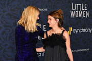"""Laura Dern and Emma Watson attend the """"Little Women"""" World Premiere at Museum of Modern Art on December 07, 2019 in New York City."""