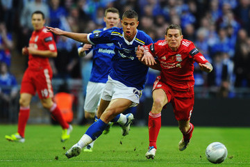Rudy Gestede Liverpool v Cardiff City - Carling Cup Final