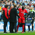 Mamadou Sakho Jurgen Klopp Photos - Jurgen Klopp, manager of Liverpool talks to an injured Mamadou Sakho during the Capital One Cup Final match between Liverpool and Manchester City at Wembley Stadium on February 28, 2016 in London, England. - Liverpool v Manchester City - Capital One Cup Final