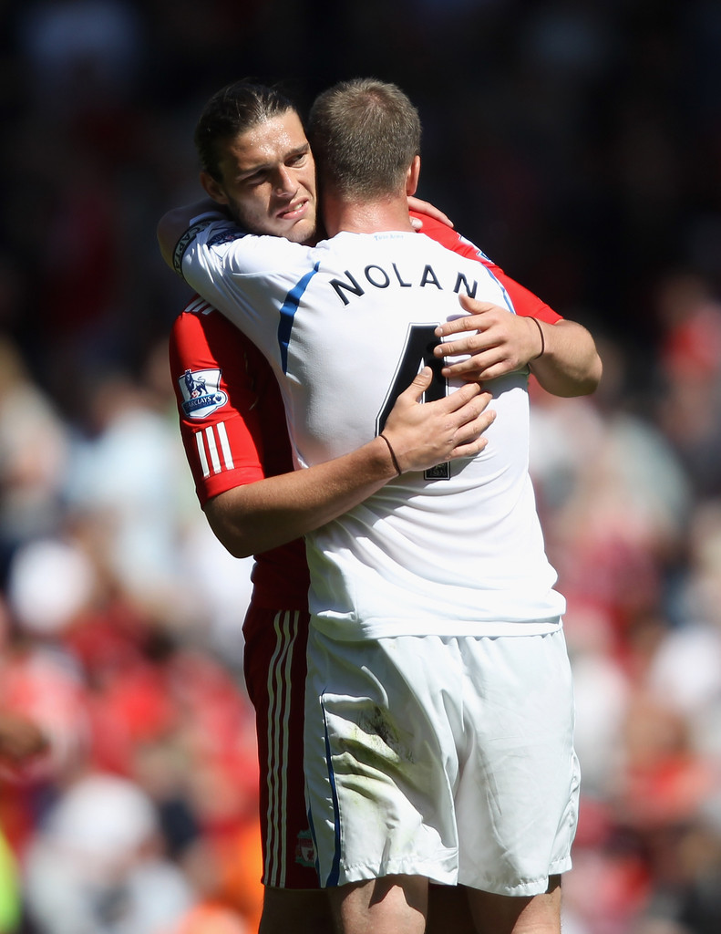 Kevin Nolan and Andy Carroll s s Liverpool v Newcastle