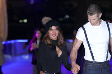 Lizzie Cundy Natural History Museum Ice Rink VIP Launch Night - Photocall