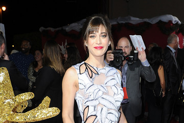 """Lizzy Caplan Premiere For Columbia Pictures' """"The Night Before"""" - Red Carpet"""
