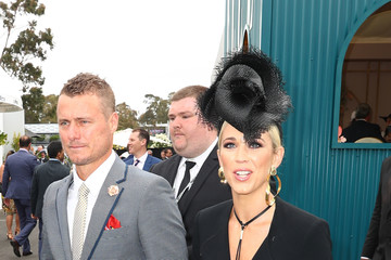 Lleyton Hewitt Bec Hewitt Celebrities Attend Melbourne Cup Day