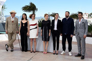 "(L-R) Actors John C. Reilly, Rachel Weisz, Angeliki Papoulia, Lea Seydoux, Ariane Labed, director Yorgos Lanthimos and actor Colin Farrell attend a photocall for ""The Lobster"" during the 68th annual Cannes Film Festival on May 15, 2015 in Cannes, France."