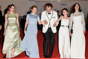 "Angeliki Papoulia ,Lea Seydoux,John C. Reilly,Jessica Barden and Rachel Weisz attend the Premiere of ""The Lobster"" during the 68th annual Cannes Film Festival on May 15, 2015 in Cannes, France."