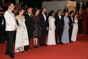 "John C. Reilly,Angeliki Papoulia,guest,Ariane Labed,Yorgos Lanthimos,Rachel Weisz,Colin Farell,Lea Seydoux,Ben Whishaw and Jessica Barden attend the Premiere of ""The Lobster"" during the 68th annual Cannes Film Festival on May 15, 2015 in Cannes, France."