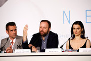"(L-R) Actor Colin Farrell, director Yorgos Lanthimos and actress Rachel Weisz, attend the ""The Lobster"" press Conference during the 68th annual Cannes Film Festival on May 15, 2015 in Cannes, France."