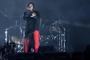 Kendrick Lamar performs during the third day of Lollapalooza Buenos Aires 2019 at Hipodromo de San Isidro on March 31, 2019 in Buenos Aires, Argentina.