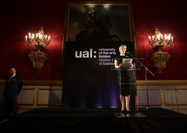 Sophie, Countess of Wessex speaks during a reception for the London College of Fashion at St James's Palace on April 28, 2015 in London, England.