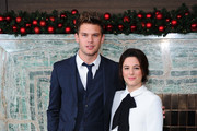 Jeremy Irvine and Phoebe Fox attend as the London Critics Circle Film Awards are announced at May Fair Hotel on December 16, 2014 in London, England.