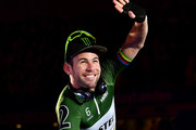 Mark Cavendish of Great Britain waves as he is introduced to the crowd on day four of the London Six Day Race at the Lee Valley Velopark Velodrome on October 27, 2017 in London, England.
