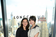 Sophie Delafontaine (L) and   Bailee Madison attend the Longchamp Fall/Winter 2020 Runway Show at Hudson Commons on February 08, 2020 in New York City.