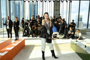Coco Rocha attends the Longchamp Fall/Winter 2020 Runway Show at Hudson Commons on February 08, 2020 in New York City.