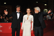 Actors Luca Argentero, Violante Placido and director Michele Placido attend 'The Lookout' Premiere during the 7th Rome Film Festival at the Auditorium Parco Della Musica on November 12, 2012 in Rome, Italy.