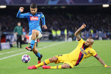 Lorenzo Insigne SSC Napoli v FC Barcelona - UEFA Champions League Round of 16: First Leg