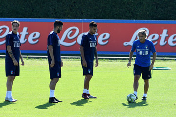Lorenzo Pellegrini Italy Training Session And Press Conference