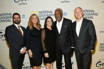Lori McCreary James Younger National Geographic 'The Story of God' With Morgan Freeman World Premiere