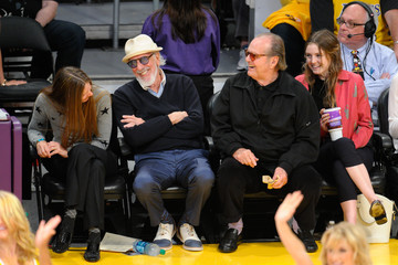 Lorraine Nicholson Celebrities At The Los Angeles Lakers Game