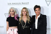 (L-R) Claudia Soare, Anastasia Soare and Kris Jenner arrive at the Los Angeles Ballett Gala 2020 at The Broad Stage on February 28, 2020 in Santa Monica, California.