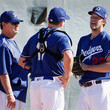 Rick Honeycutt and A.J. Ellis Photos